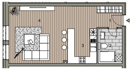 Byt, 1 - izbový, 46.98m2, Bratislava I - Staré Mesto, Beskydská ulica